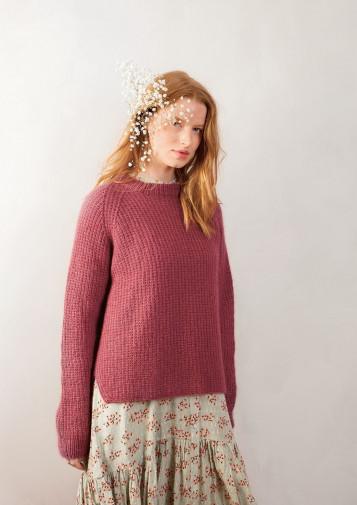 Perleribb genser